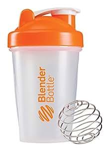 Blender Bottle Classic 20oz Orange Transparent (568ml) - Shaker Cup / Water Bottle
