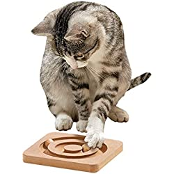 Karlie - Kitty Brain Train Roundabout / 47721 - Jeu d'apprentissage pour chat - 19 x 19 cm