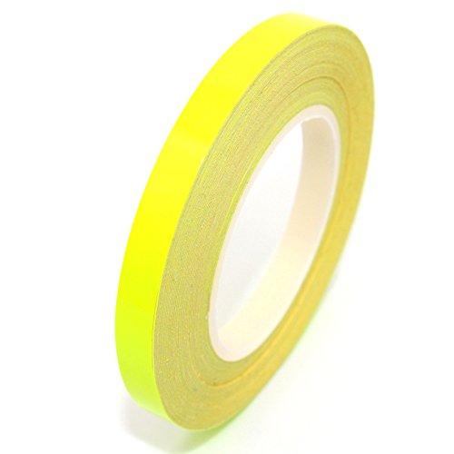 Finest-Folia Neon Zierstreifen 7 Meter x 6,5 mm Auto, Motorrad, Boot, Modellbau, LKW (Neon Gelb) - Neon Streifen