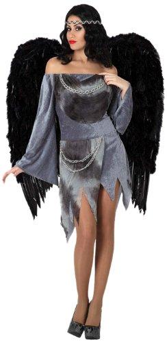 Costume da Angelo Nero Donna Taglia3 XL_14939