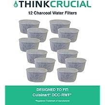 12 Cuisinart DCC-RWF filtros de agua de carbón, se adapta a todos los Cuisinart cafeteras con sistema de filtración de agua de carbón, diseñado y dirigido por el café Crucial
