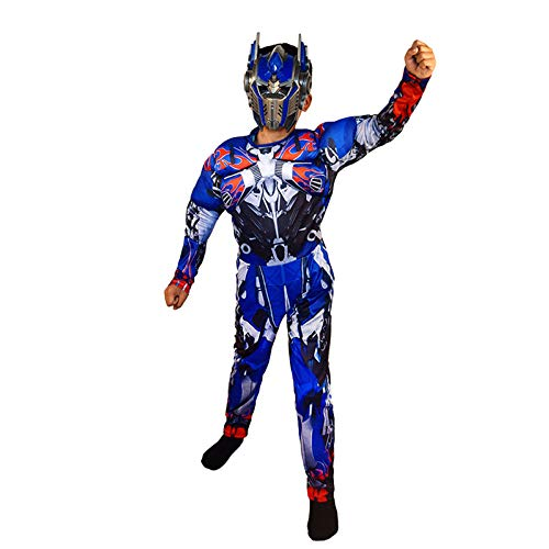 XINFUKL Costumes d'halloween Costume Transformers Vêtements Optimus Prime Costume Hornet Muscle,Blue-S