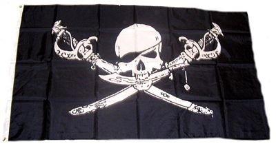 Fahne / Flagge Pirat mit Säbel Dolch NEU 90 x 150 cm