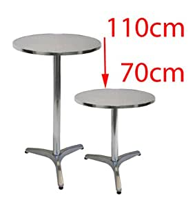 Aluminium bistro hauteur de table r glable en aluminium - Amazon table de bar ...
