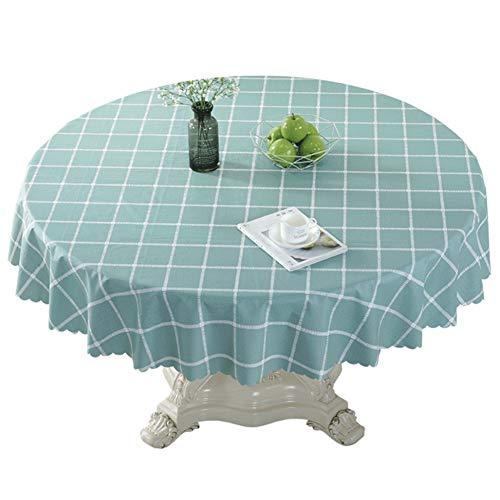 HXTABLECLOTH Runde Vinyl Tischdecken, PVC Kunststoff Abwaschbar Arbeitsplatte Schwerlast Wasserdicht Spritzwassergeschützte Anti-heiß Tabelle abdeckungen Für couchtisch-B D 1.2m(47