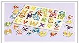 WESEEDOO Kinder Puzzle Bord Holz Buchstaben Blöcke Alphabet Lernbrett Lernspielzeug Anzahl Puzzle Bord Puzzle Tier Lernbrett (Alphabet)