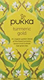 Pukka Turmeric Gold Herbal Tea Bags - Organic & Fair Turmeric, Lemon Fruit and Whole Leaf Green Tea (Pack of 4)