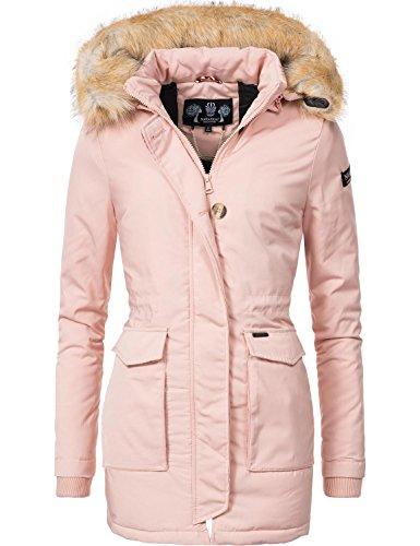 Navahoo Damen Winter-Jacke Winter-Mantel Schneeengel (vegan hergestellt) Rosa Gr. L