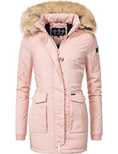 fake fell jacke Navahoo Damen Winter-Jacke Winter-Mantel Schneeengel (vegan hergestellt) Rosa Gr. XXL