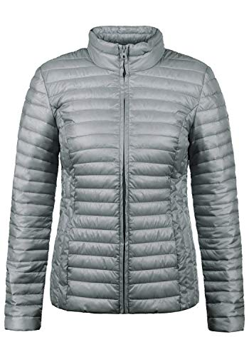 JACQUELINE de YONG Britta Damen Übergangsjacke Steppjacke leichte Jacke gefüttert mit Stehkragen, Größe:XL, Farbe:Sharkskin