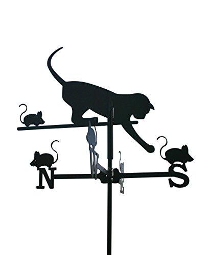 Wetterfahne Katze klein Stahlblech, schwarz