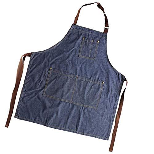 PETSOLA Delantal Coreano De Jeans Unisex Panadería