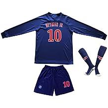 2018/2019 Paris #10 Neymar Jr. Heim Lange Ärmel Kinder Fußball Trikot Hose und Socken Kindergrößen