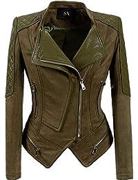 Damenmantel Wildlederjacke Windjacke Gürtel Windbreaker Wildledermantel Outwear