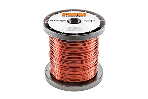 Kupferlackdraht 1kg Ø 1,00 mm CU Lackdraht Grad 2 CUL Kupferdraht Gewicht 1 Kilogramm Durchmesser 1,00 Millimeter Wickeldraht Kupfer Draht nach IEC 60317-13