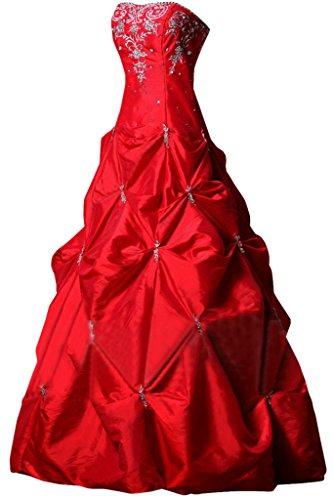 Sunvary elegante a-line Sweetheart lungo Satin quinceañera abito da ballo del vestito da sera Red