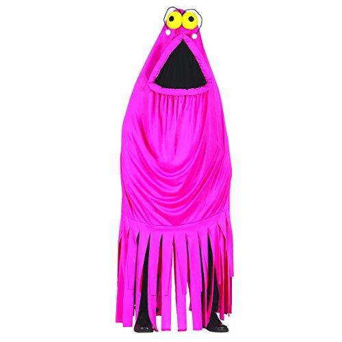 Amakando Kostüm pinkes Monster Monsterkostüm Erwachsene L 42/44 Pinker Krake Ganzkörperanzug rosa Tintenfisch Ganzkörperkostüm originelles Halloweenkostüm ausgefallenes Faschingskostüm