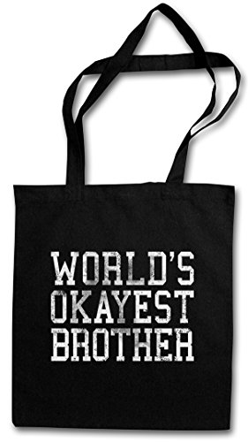 Urban Backwoods World's Okayest Brother Hipster Bag ? Bruder Fun Geschenk Love Family Birthday Present Geschwister Gro?er Big