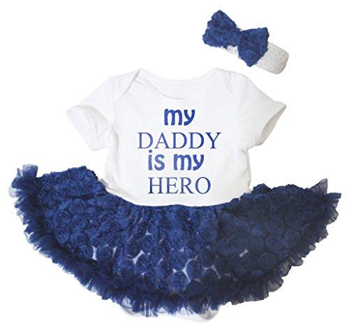 Petitebelle Baby Mädchen (0-24 Monate) Body weiß Weiß / Blau Gr. 12-18 Monate, Weiß / Blau