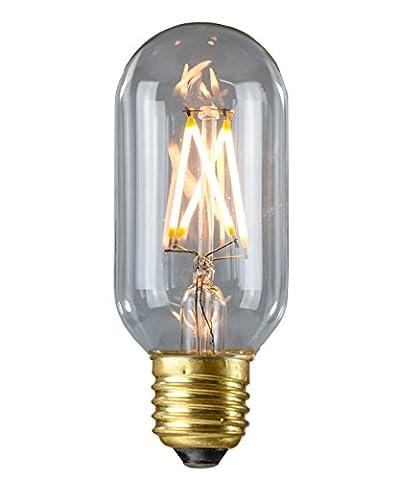 PureLume LED Edison T14Cross Lampe Rétro (4W, E27, 240V) Idéal pour Nostalgie et éclairage (Colonne Lisce)