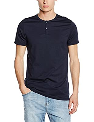 Jack & Jones Men's Jjprfinn Tee Ss Granddad T-Shirt