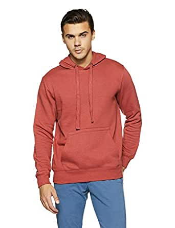 Amazon Brand - Symbol Men's Sweatshirt (AW18MNSSW02D_Copper Brown_Small)