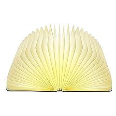 Idea Regalo - Lixada Libro Lampada Luce LED di legno Pieghevole Luci Booklight Decorative Lampada da Tavolo,Big Size,2500mAH,4.5W,500 Lumens Maggiore Luminosità