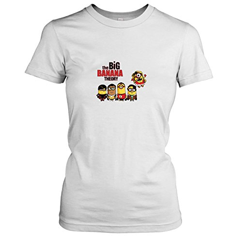 TEXLAB - Big Banana Theory - Damen T-Shirt, Größe L, (Sheldon Und Freundin Kostüm)