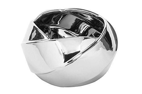 Fink - FEDRA - Übertopf, Blumentopf - Keramik - Silber - Ø25 x H13 cm