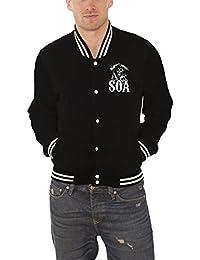 Sons Of Anarchy baseball de veste Classic Logo officiel Homme nouveau Noir