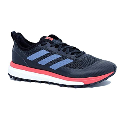 adidas Response Trail, Chaussures de Running Compétition Femme Gris (Carbon/raw Steel/trace Scarlet)