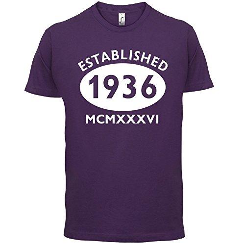 Gegründet 1936 Römische Ziffern - 81 Geburtstag - Herren T-Shirt - 13 Farben Lila