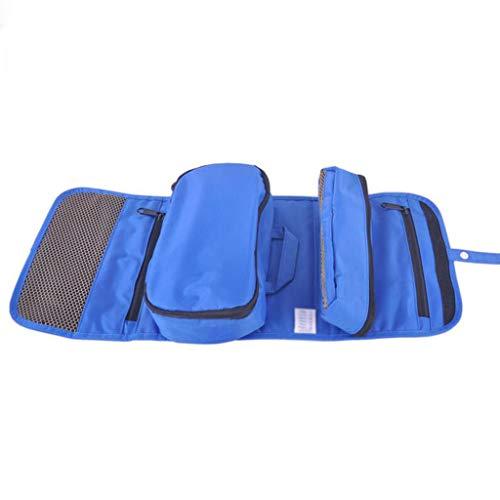 Sac cosmétique détachable Se Pliant Stockage étanche Grande capacité Multifonctionnel portatif de Lavage Simple de Voyage Universel 5 Couleurs 24 * 3 * 20 cm MUMUJIN (Couleur : Bleu)