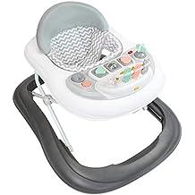 Todeco - Trotteur pour Bébés, Centre d'Activités pour bébés - Tranche d'âge: 6 à 18 mois - Matériau: PP - Motif gris avec les jouets