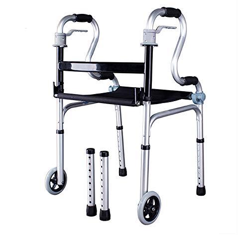 Gflyme Rehabilitationsausrüstung für ältere Menschen mit Gehhilfe Riemenscheibe/Keine Riemenscheibe Armlehnen-Gehhilfe (Color : Pulley) -
