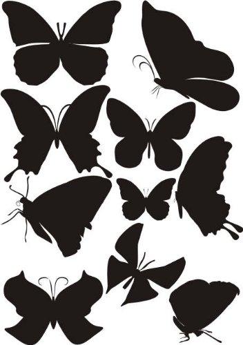 sticker-mural-w800-10-papillons-en-3-couleurs-differentes-sur-un-feuilles-din-a4-jaune-dor-a4