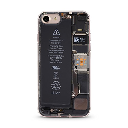 Handyhülle für Apple iPhone 7 ( Anker pink ) - Hülle - Schutzhülle mit Motiv - TPU Silikon Hülle - Case - Cover - Schale - Backcover - Handytasche Battery