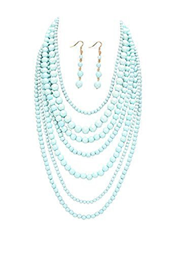 rosemarie-collections-womens-beaded-bib-necklace-earings-set-multi-strand-light-blue-color