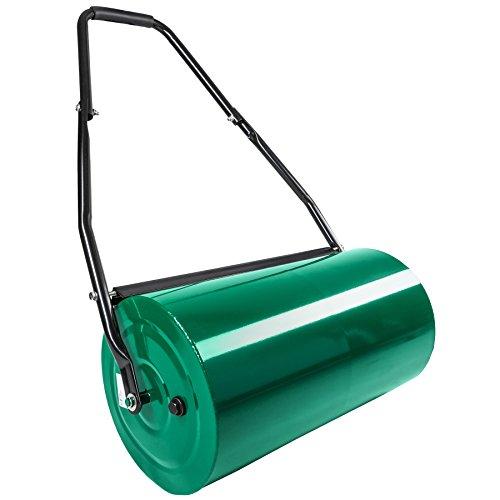 TecTake Rouleau à gazon jardin en métal avec poignée | largeur 60cm | Ø du rouleau : 31 cm | volume de remplissage : env. 50 L