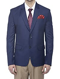 Favoroski Men's Raymond Wool Blazers - Navy Blue