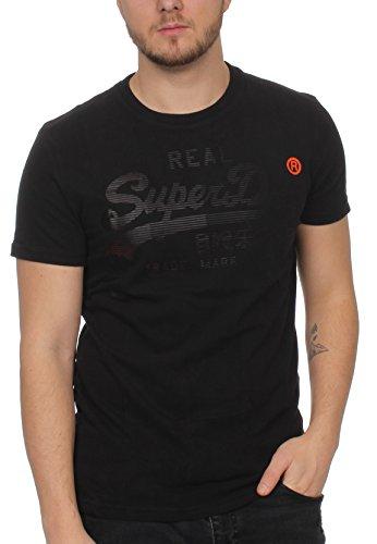 Superdry T-Shirt Men Real Logo 1ST Tee Half Time Black half time black