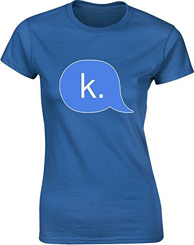Brand88 - Brand88 - K., Gedruckt Frauen T-Shirt Königsblau/Transfer