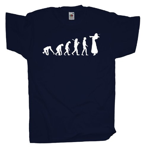 Ma2ca - Evolution - Violinistin T-Shirt Navy