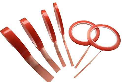 Doppelseitiges Klebeband - 0.2mm Acryl Kleber Dünn - extra stark haftend/klebend - Doppel-Band Sticky Tape Durchsichtig 3mm 5mm 7mm 10mm 15mm 20mm - 10Meter oder 20Meter (5mm x 10Meter)