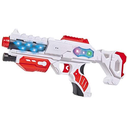#1018 Laserpistole Space Blaster mit Licht- und Sound • Laser Pistole Weltraum Gewehr Kinder Spielzeug Waffe Karneval Kostüm (Space Cowboys Kostüm)