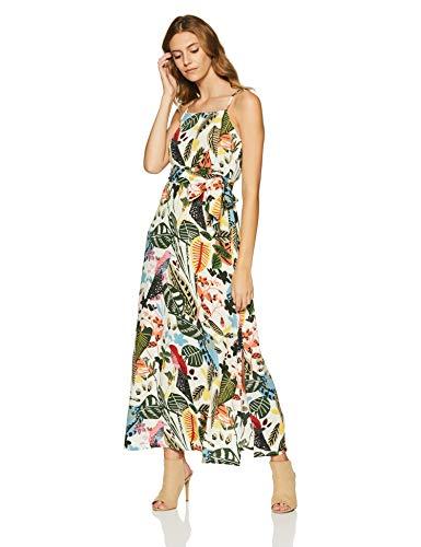 Styleville.in Women's Skater Maxi Dress (SDRF501287_Multicolor_L)