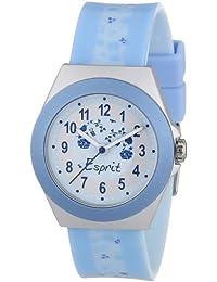 Esprit - ES105314002 - Rosy Garden - Montre Fille - Quartz Analogique - Cadran Multicolore - Bracelet Plastique Bleu