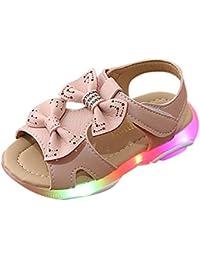 Berimaterry Sandalias para Baby Niña Zapatos para niñas con Luces LED Zapatos Verano Ligero Transpirable Bajo