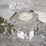 Cosy YcY cristallo portacandela, portalumini K9trasparente quadrato per tavolo, candelabro centrotavola, portacandela per home Deco/party/wedding decorazioni regalo natalizio