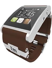 I 'm 128MB Watch Uhr mit Kautschuk Armband Silber, braun